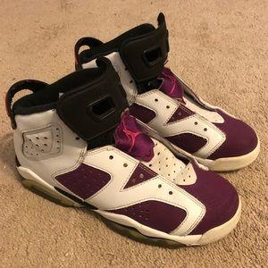 Jordan 6 VI Grape No laces size 5Y Women's 6.5